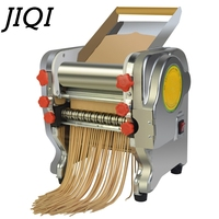Stainless Steel Electric Noodle Making Pressing Machine Dumpling Pasta Maker Commercial Spaghetti Cutter Dough Roller 3 mm 9mm Electric Noodle Makers Home Appliances -