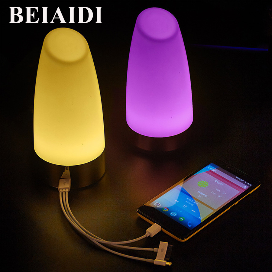 BEIAIDI USB Rechargeable LED Night Light With Power Bank Desk Table Lamp Creative Bar KTV Restuarant Coffee Shop Table Lamp led remote control colorful eggs rechargeable bar table lamp ktv night club light dimming color led night light free shipping