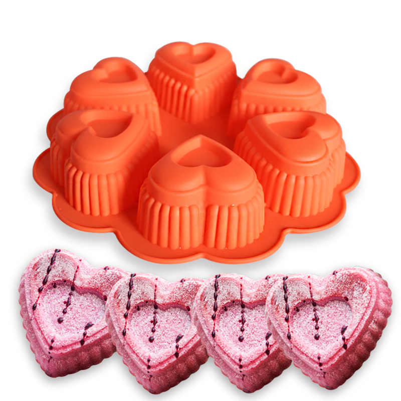 Heart Shaped Silicone Cake Pan