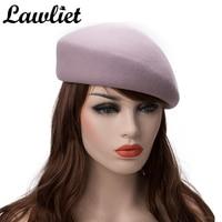 High Quality Beret Cap Solid Women Men Unisex 100% Wool Felt Tilt Winter Beret Hats Dome Bare Boina Feminino Hat Artist Flat Cap