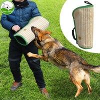 개 훈련 물린 보호 팔 소매 바 젊은 Malinois 작업 개 훈련