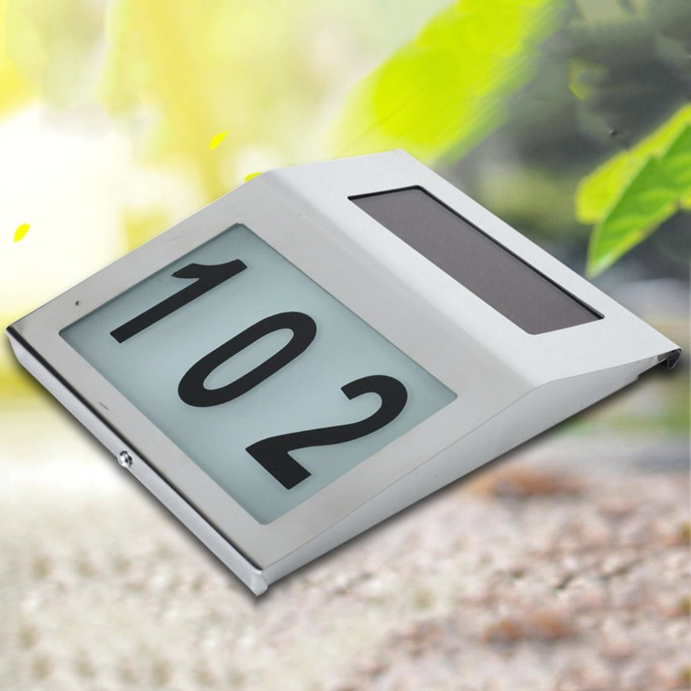 US $6.26 25% OFF|house door number outdoor hotel led numbers apartment sign  nameplates doorplate Address Plaque Digit Plate Wall Lamps Dropship-in ...