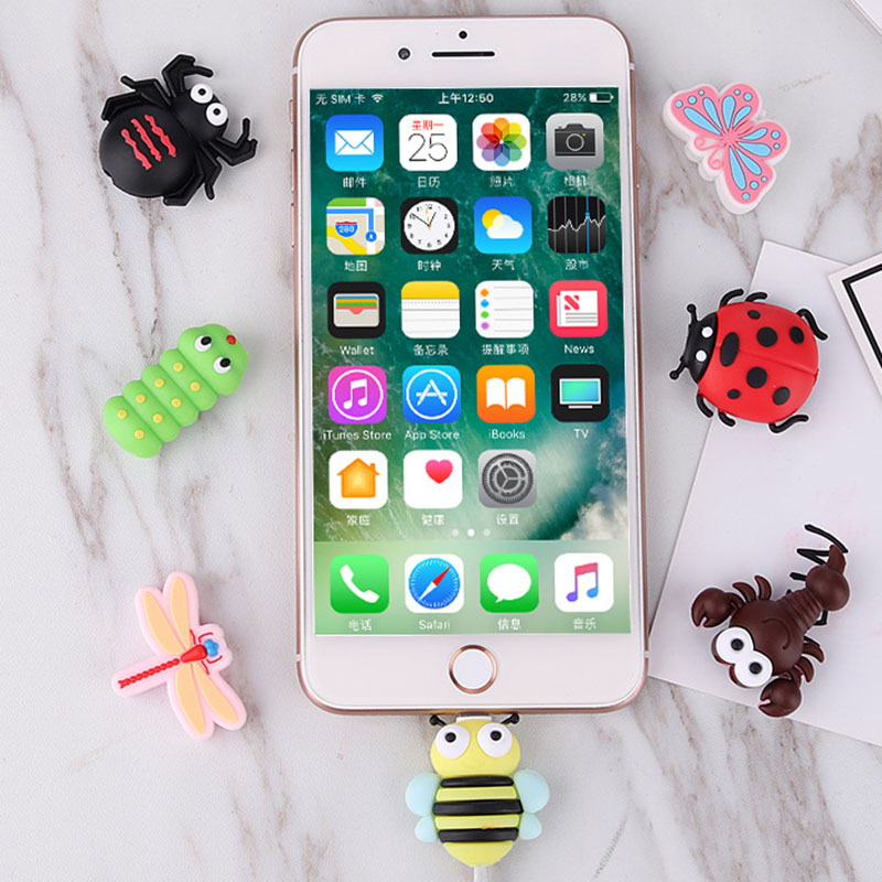 Cable Bite Cute Animal Cable Protector Charger Wire Holder For iPhone Cable And Phone User Usb Cable Chompers