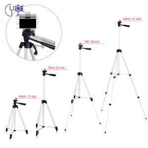 Image 1 - CY 1 pièces 130 cm professionnel caméra trépied support lumière trépied avec culbuteur pour Canon Nikon Sony DSLR appareil photo avec clip de téléphone