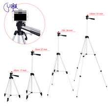 CY 1pcs 130cm professional Camera Tripod Stand light tripod with Rocker Arm for Canon Nikon Sony DSLR Camera with phone clip