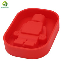 Silicone Robot Ice Mold Cream Tools Color Red Tubs Cake