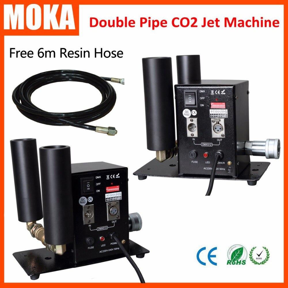2 шт/комплект двойной трубы CO2 ткацкий станок dmx специальный эффект крио co2 blaster струи туман co2 машина спрей 10 м со шлангом