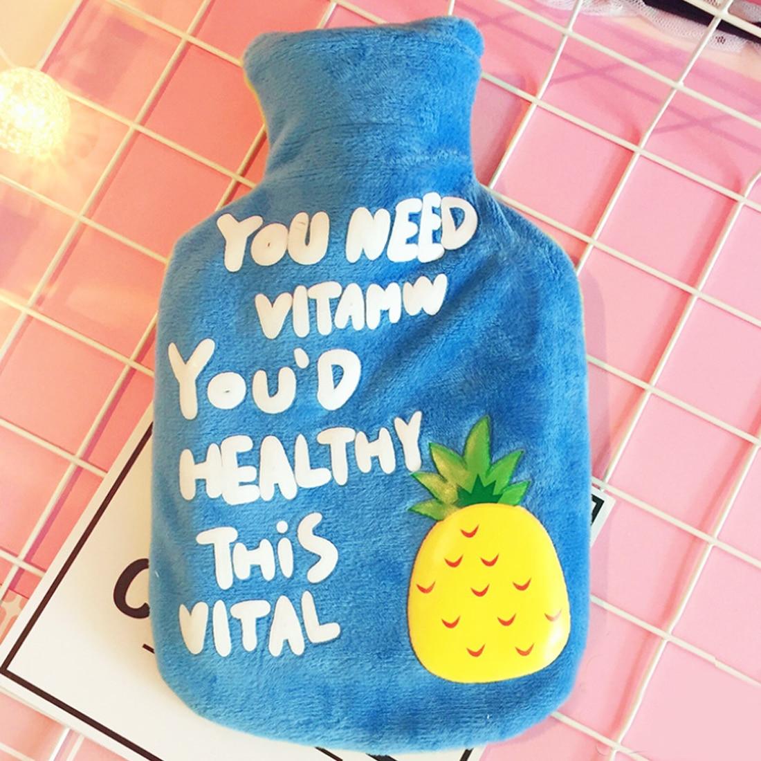 New Arrival Fresh Cartoon Cute Fruit  Banana Pineapple Watermelon Girls Pocket Hand Feet Warm Winter Hot Water Bag pineapple rainbow watermelon glasses brooch set