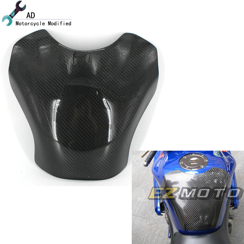 For Kawasaki ZX-10R Real Carbon Fiber 3D Gas Tank Pad Covers Protector ZX 10R 2007 2008 Years Motorcycle Accessories ! black color motorcycle accessories carbon fiber fuel gas tank protector pad shield rear carbon fiber for kawasaki z1000 03 06
