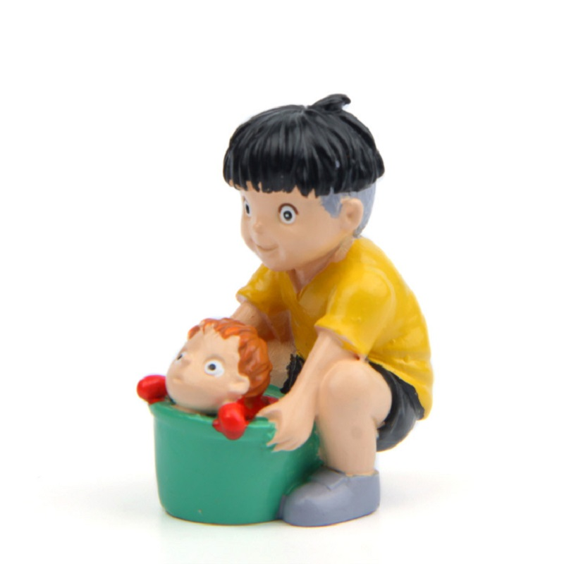 2pcs//Set Ponyo on the Cliff Resin Figures Toy Gardening Home Decor new gift