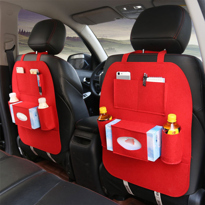 Car Seat Back Organizer Universal Use as Backseat for Kids, Storage Bottles, Tissue Box.