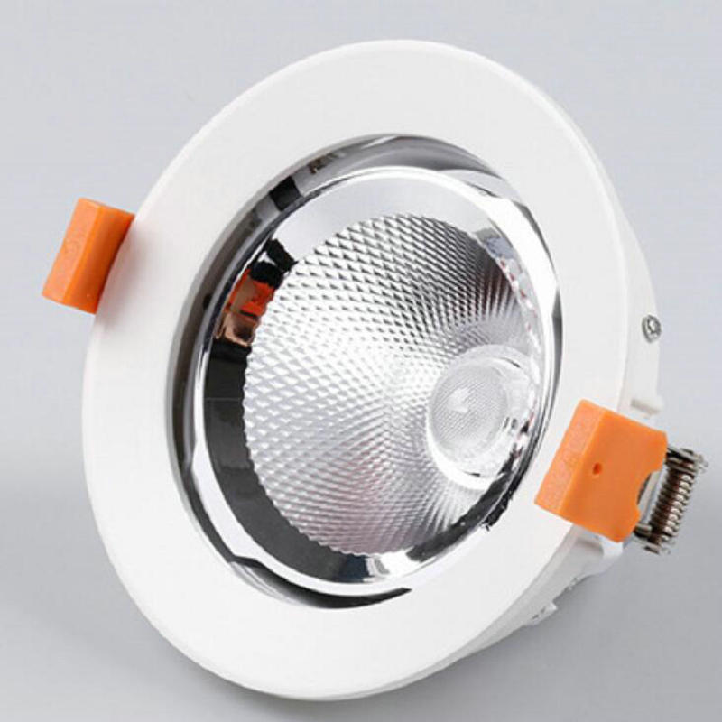 Rotate 360 degrees 30W 40W 50W 60W LED COB downlight Recessed LED Ceiling Lamp Spot Light White/warm LED lamp cree