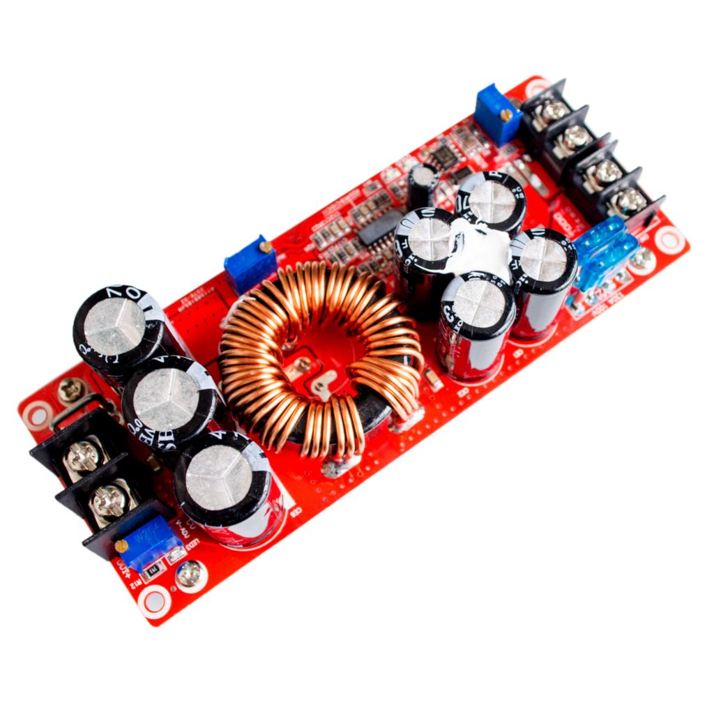 5PCS/LOT 1200W 20A DC Converter Boost Step up Power Supply Module IN 8 60V OUT 12 83V-in Integrated Circuits from Electronic Components & Supplies