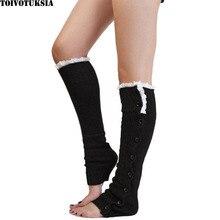 купить Knit Polainas de inverno Boot Toppers Crochet Polaina Knitted Leg Warmers for Women дешево