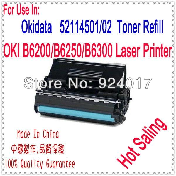 Использовать Для OKI 6300 Картриджа, Черный Тонер-Картридж Для Okidata B6300 Принтера, Тонер OKI 52114502 Тонер, высокая Производительность, 17 К