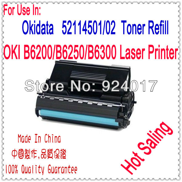 Use For OKI 6300 Cartridge,Black Laser Toner Cartridge For Okidata B6300 Printer,For OKI Toner 52114502 Toner,High Capacity,17K 4 pack high quality toner cartridge for oki c5100 c5150 c5200 c5300 c5400 printer compatible 42804508 42804507 42804506 42804505