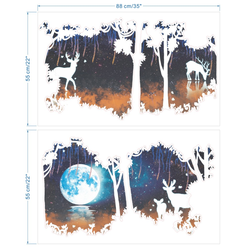 Night Forest Vinyl Wall Sticker 20