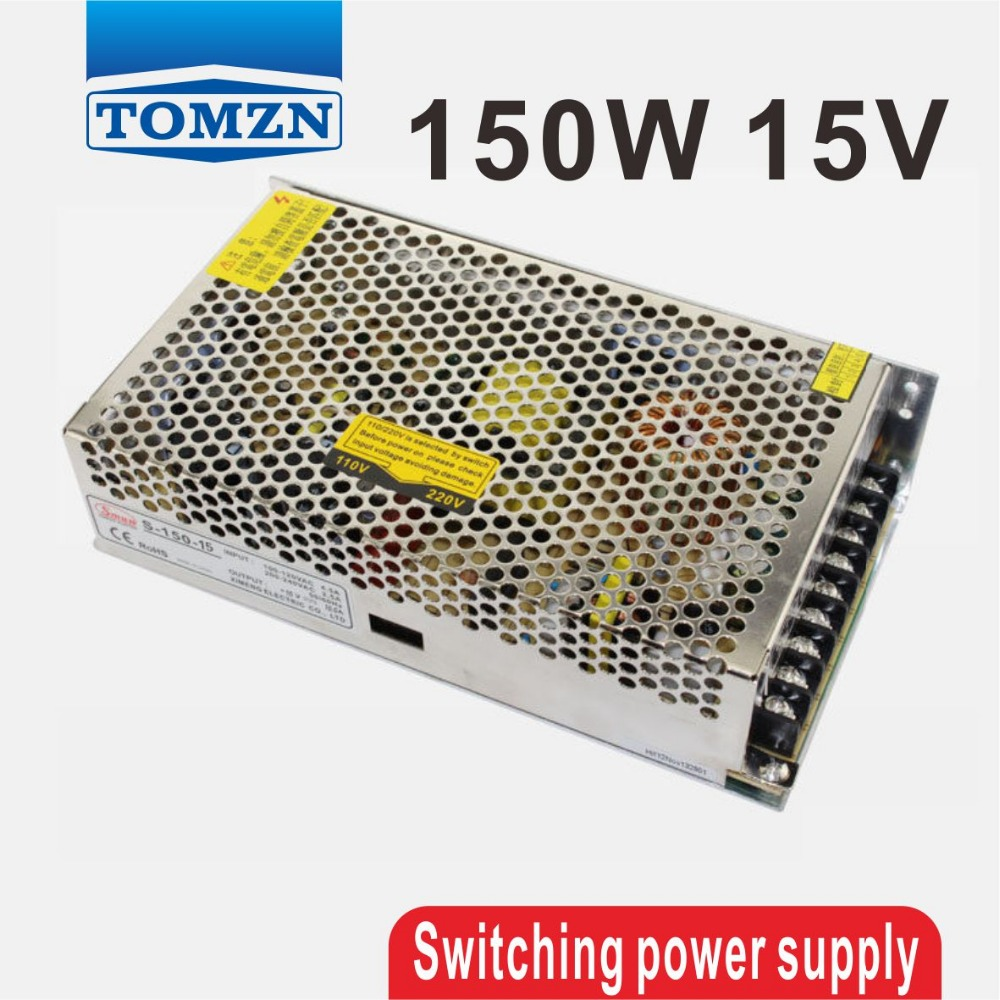 150W 15V 10A Single Output Switching power supply for LED Strip light AC to DC single output dc 24v 25a 600w switching power supply for led light strip 110v 240v ac to dc24v smps with cnc electrical equipmen