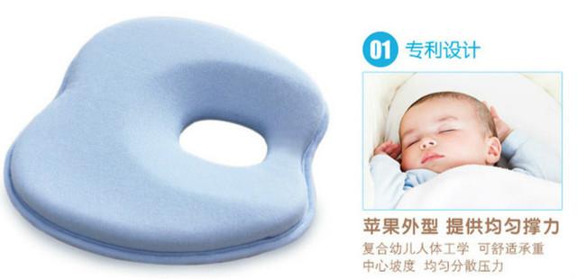 Adorável recém-nascido criança seguro Anti rolo bebê travesseiro sono cabeça posicionador prevenção cabeça chata