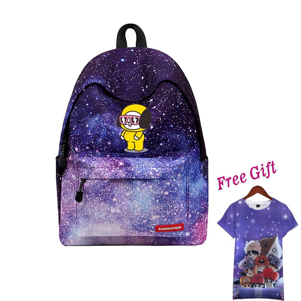 цена 2018 Kpop BTS Backpack New arrival Funny Backpack rugtas mochila escolar Bangtan Boy Laptop Backpack Unisex bag Anime fashion