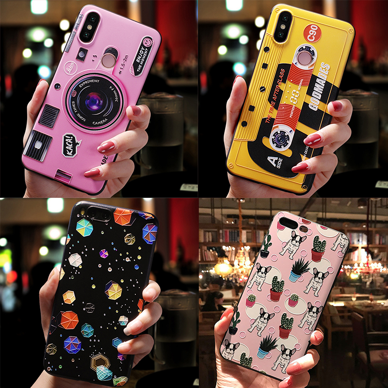 <font><b>Cartoon</b></font> Cute <font><b>3D</b></font> Emboss Patterned Phone Case For <font><b>iPhone</b></font> 7 8 6 6S Plus 11 Pro XS Max X XR Case Soft Silicone For <font><b>iPhone</b></font> 5 <font><b>5S</b></font> Cover image