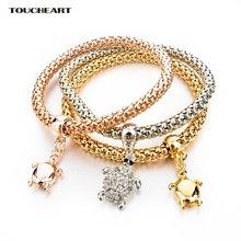 Женские браслеты шармы toucheart подвески с золотыми черепами