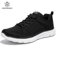 NIDENGBAO Men's Casual Shoes Black Color Walking Shoes Lightweight Cross-Traning Running Shoes Full Mesh Sneakers Plus Size