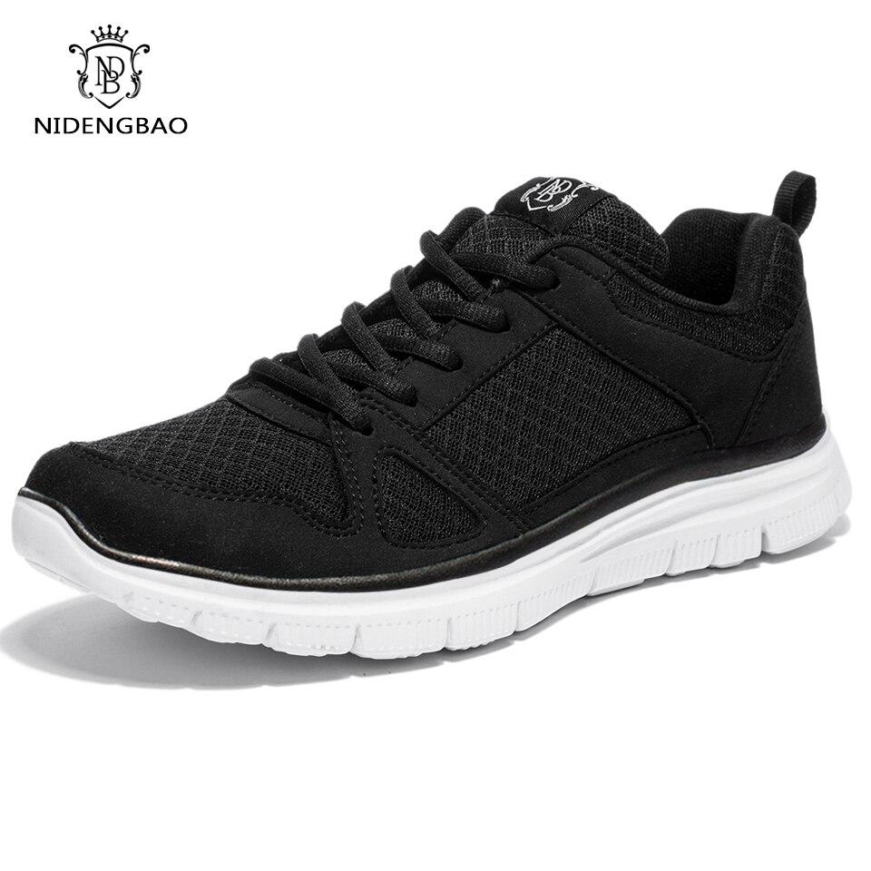 2018 Novos Homens Verão Sapatos Respirável Super Leve Malha Completa Homens Calçados Casuais Sapatos de Caminhada Preto Mais Grande Tamanho Eur 47 48 49 50