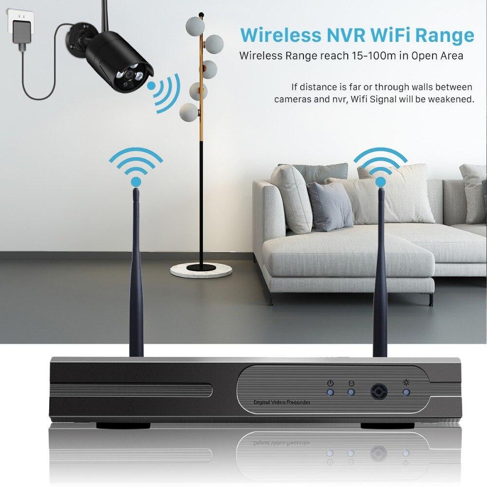 BESDER 8CH 1080 P sans fil NVR Kit 720 P système de caméra de sécurité à domicile 1.0MP HD Surveillance vidéo système de vidéosurveillance Wifi caméra extérieure-in Système de surveillance from Sécurité et Protection    3