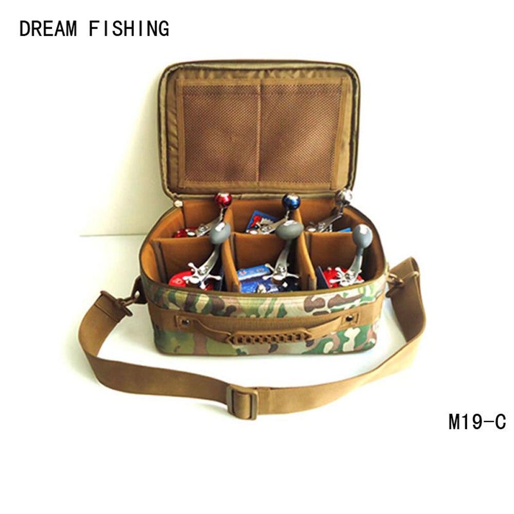 Prix pour Bobine sac grande capacité sknapsack s'attaquer de pêche sacs Rêve de pêche 33*13 * 23cm1200D oxford multi-fonction bolsa de la pesca