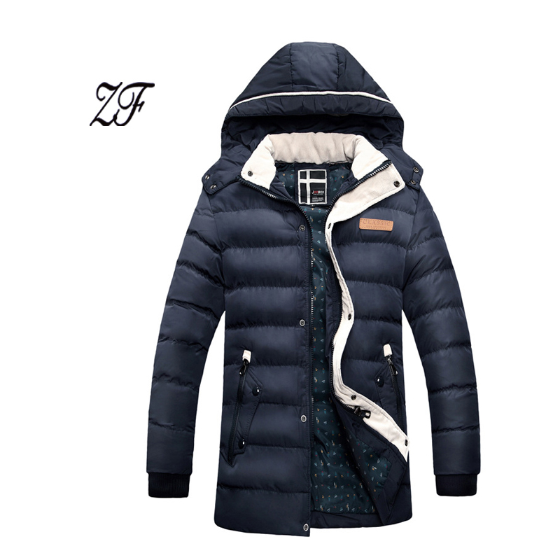 ФОТО Men's clothing 2016 new winter slim outerwear wadded jacket Keep warm thickening cotton-padded jacket coat