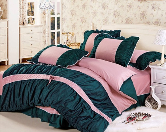 sets bedding home product zjbmvzyymgwo set include pillow queen luxury comforter textile bedskirt pcs wholesale china