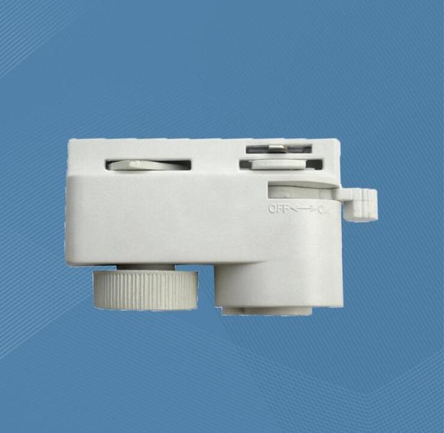 Iki Parça Hattı Plastik Lamba konnektörü monte lamba Taban aksesuarları beyaz/siyah 250 adet