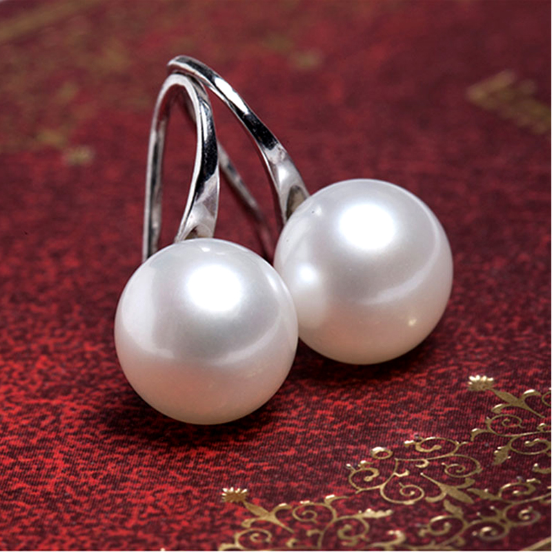 Fashion Pearls Stud Earrings for Women Gifts Silver Gold Color Earring Bride Hanging Danging Female Cheap Jewellery Ali express(China)