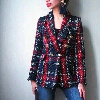 Patchwork Vintage Plaid Tweed Jacket