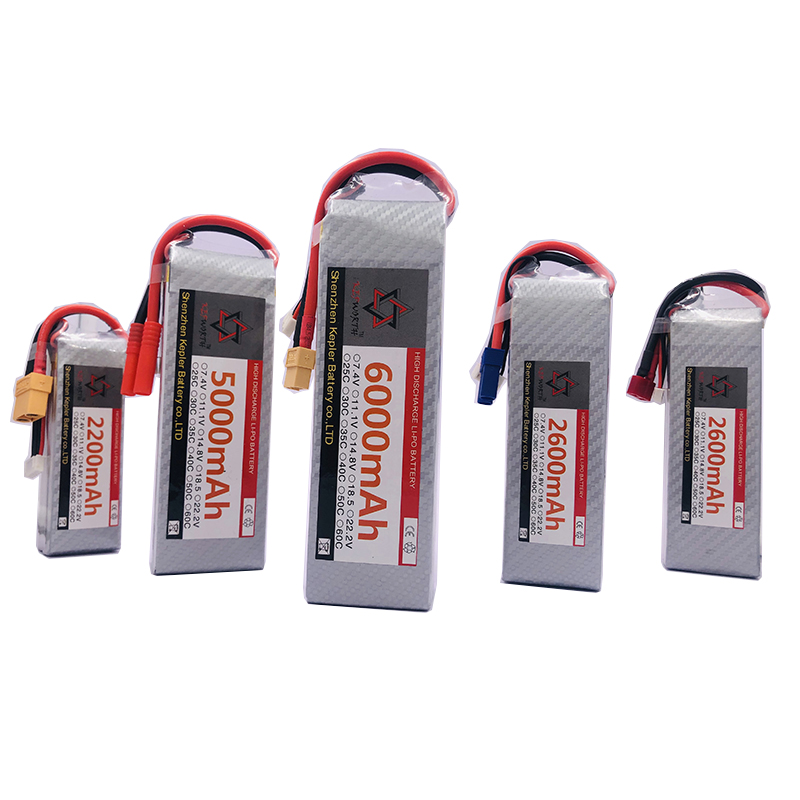 <font><b>6s</b></font> 22.2v RC <font><b>Lipo</b></font> Battery 6000 2200 2600 3300 <font><b>5000mAh</b></font> Lithium Ion Polymer Battery For Car Plane Boat Truck Tank Drone Helicopter image