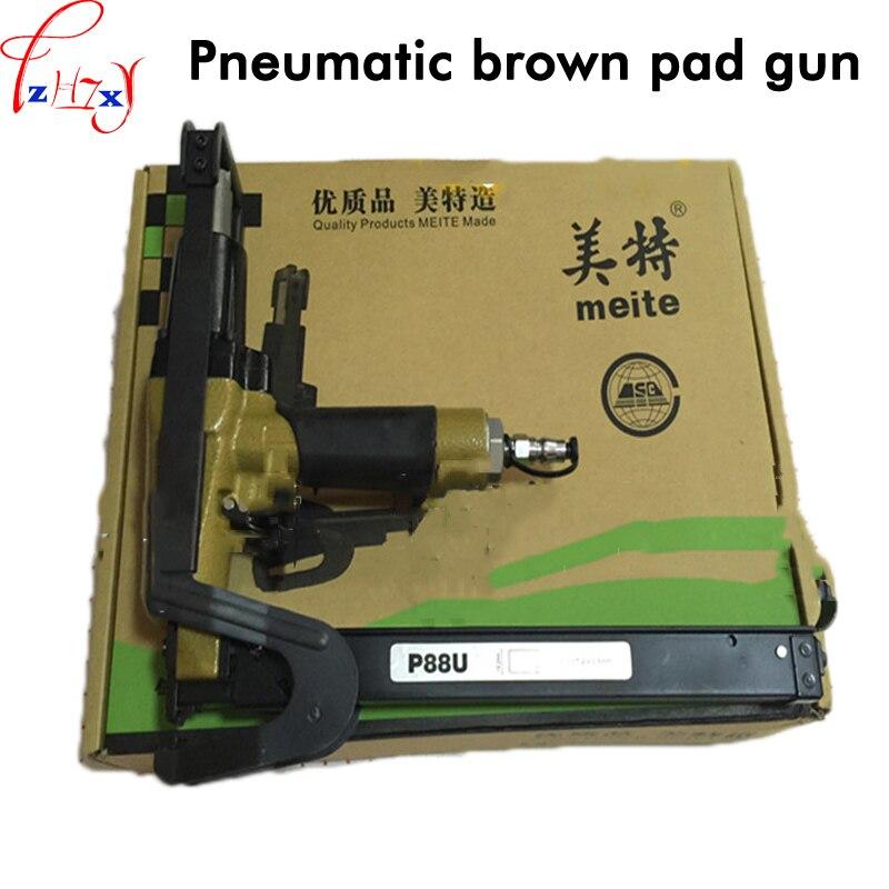 1 PC Pneumatique palm coussin pistolet P88U canapé coussin de fixation machine gun professionnel pour fixer matelas tapis pistolet