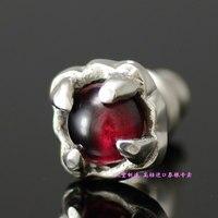 925 pure silver stone small ears