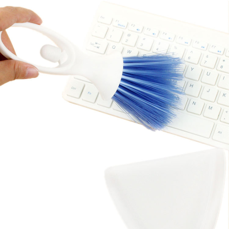 Multi Function Small Broom Keyboard Brush Blue Plastic Dustpan Set Pet Hamster Computer Hardware Screen Cleaning Brush Tool