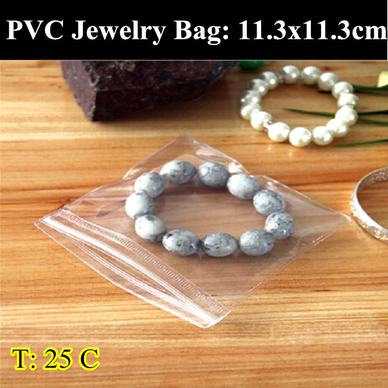 200pcs/lot 11.3cm*11.3cm 0.25mm Thickness Self Adhesive Seal Plastic Bags,Resealable Retail Pouches,Jewelry/Rings/Earrings Bags