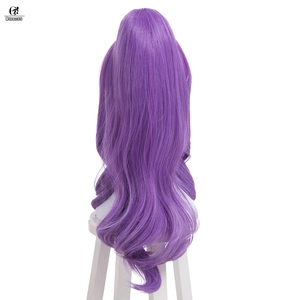 Image 3 - ROLECOS LOL Janna Cosplay Headwear Star Guardian Janna Cosplay Hair Magical Girl Game Cos Long Purple Synthetic Hair 50 55cm