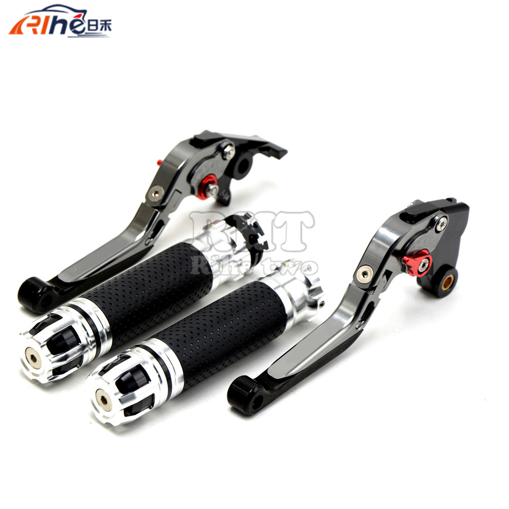 CNC Handlebar Motorcycle Handle Bar Grips Adjustable Clutch Brake Levers For KTM 990 SuperDuke 2005 2006 2007 2008 09 10 11 12