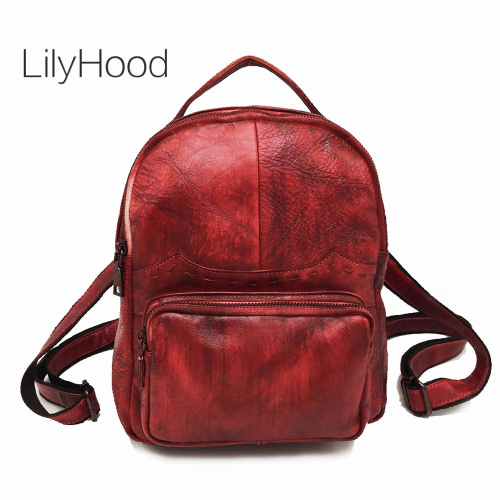 Cowhide Brushed-off Leather Backpack Women Vintage Preppy Style School Bag Female Casual High Quality Genuine Leather DaypackCowhide Brushed-off Leather Backpack Women Vintage Preppy Style School Bag Female Casual High Quality Genuine Leather Daypack