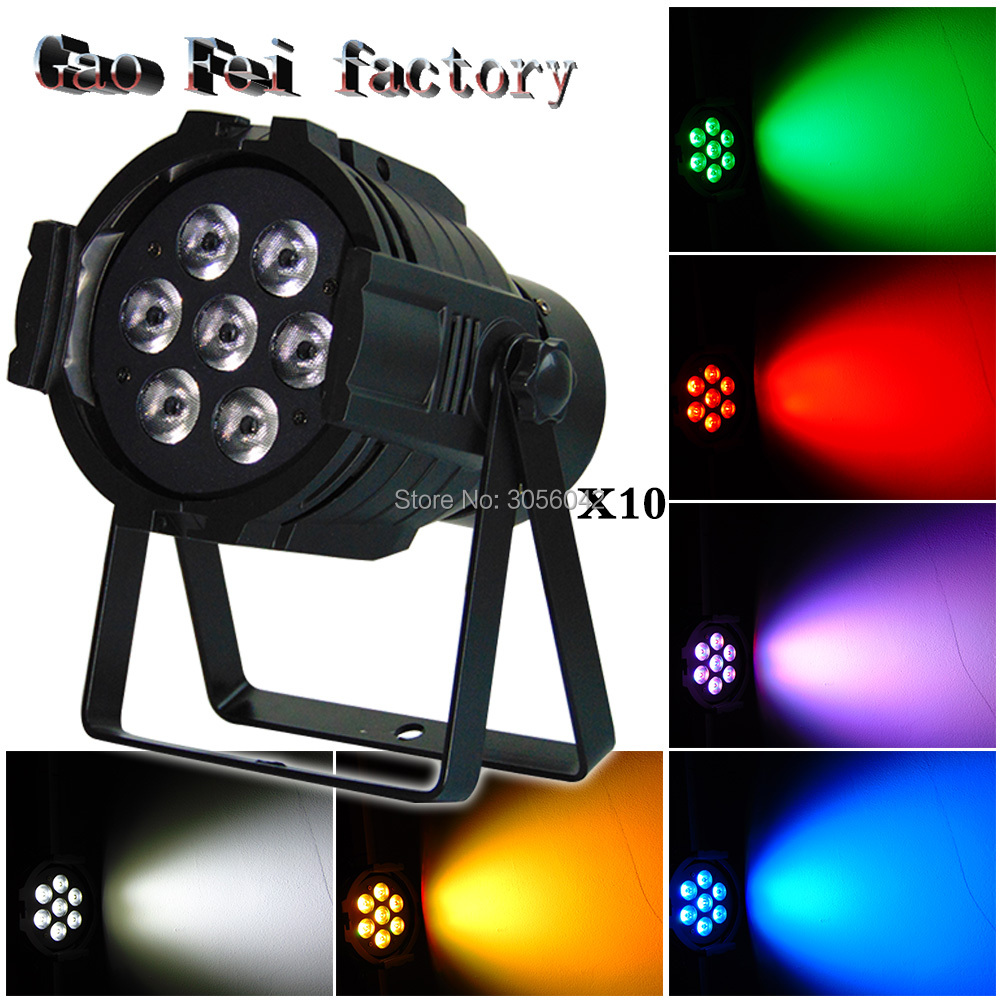10pcs/lot Led Par Light 7x12W 4in1 RGBW LED Par Can Disco Lamp Stage Lights Luces Discoteca wash de Projector 6units 24x12w rgbw 4in1 aluminum led par can disco lamp stage lights luces discoteca laser beam luz de projector led par light