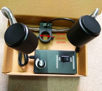 Для видео микроскоп 25 мм диафрагма СВЕТОДИОДНЫЕ фонари Двойной шланг многофункциональный СВЕТОДИОДНЫЙ свет яркость регулируемая