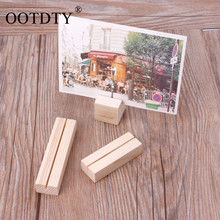 Natural Wood Memo Clips Photo Holder Clamps Stand Card Desktop Message Crafts Gifts Office Stationery Organizer Home Decoration