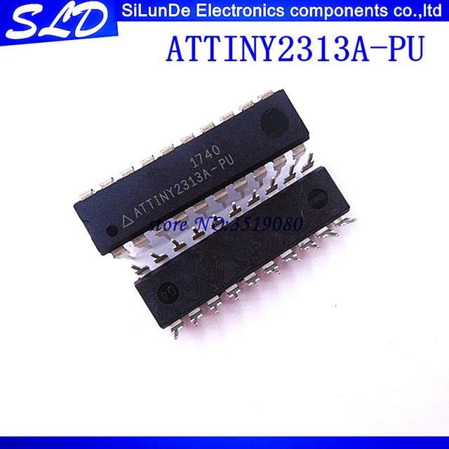 3c9059b8b09a ATTINY2313A-PU ATTINY2313 DIP20 MCU 8-bit ATtiny AVR RISC 2KB Flash  2.5V 3.3V 5V 20-Pin DIP 2pcs lot Free Shipping