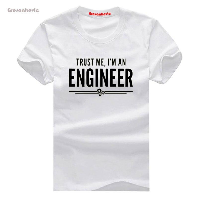 Confia em Mim Engenheiro Nova Moda T-shirt dos homens de Manga Curta  Camiseta de Algodão Por Atacado bcd98ecc17125