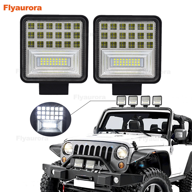 <font><b>Led</b></font> Light <font><b>Bar</b></font> <font><b>4</b></font> Inch 120W <font><b>LED</b></font> Work Light <font><b>Bar</b></font> Combo <font><b>Offroad</b></font> 4x4 Fog Light Driving Light Lamp for Truck 12V Headlight for Boat image