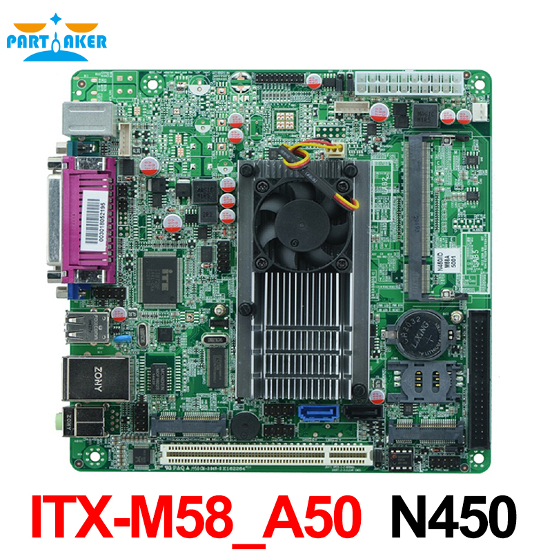 Industrial embedded mini_itx motherboard ITX_M58_A50 N455 1.66GHz single core CPU vectra motherboard industrial rocky 4786ev